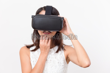 woman, watching, with, vr, and, feeling - 20552881