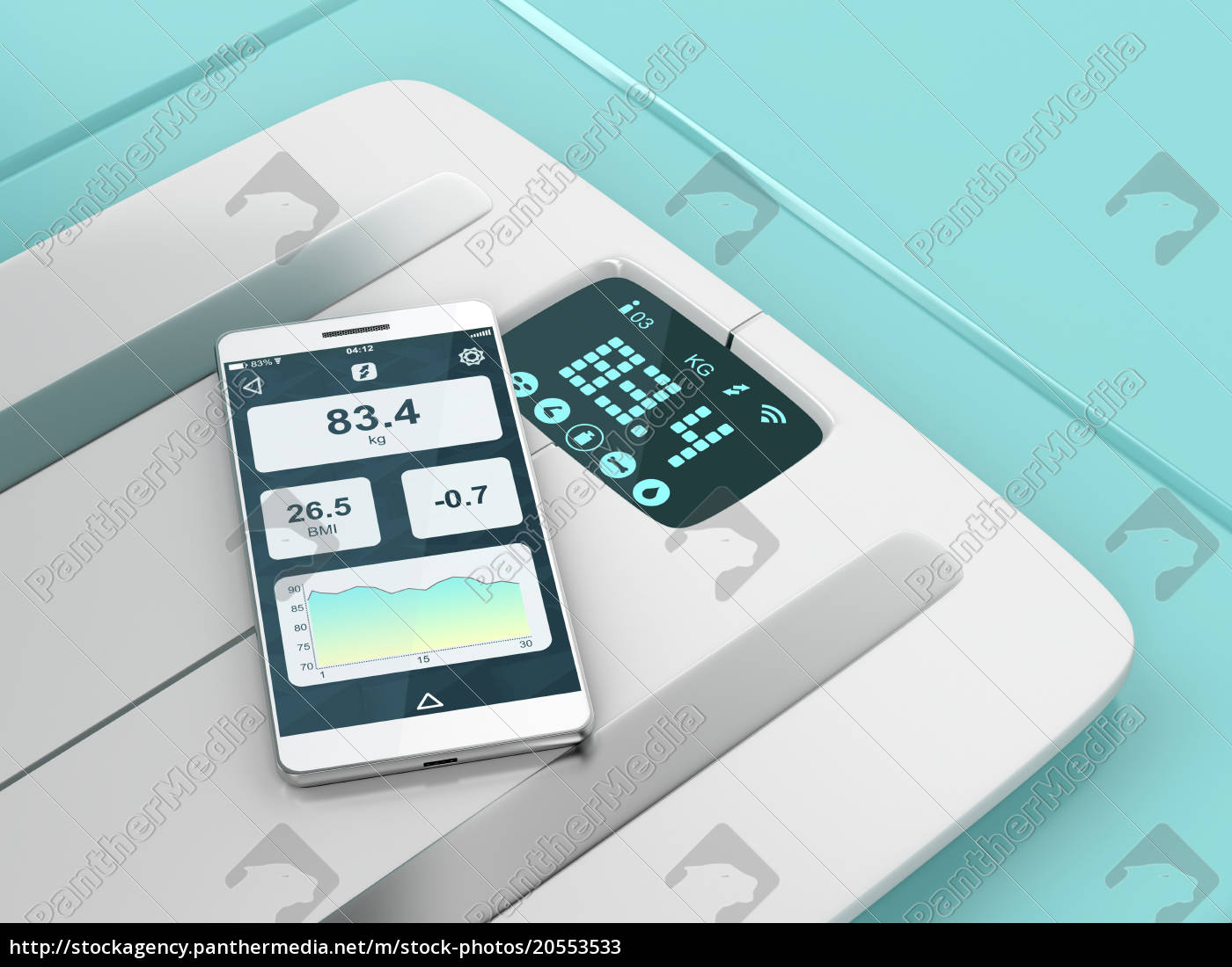 smart, weight, scale, and, smartphone - 20553533