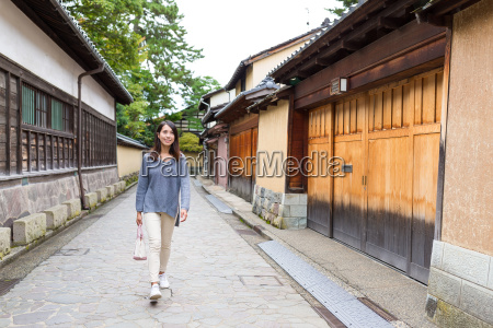 woman, walking, at, japanese, old, town - 20553073