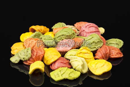 colored, pasta, arcobaleno, isolated, on, black - 20555889
