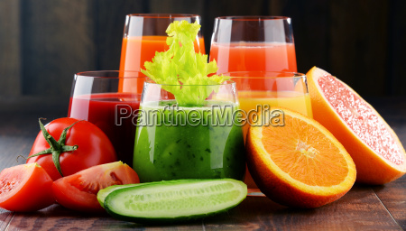 glasses, with, fresh, organic, vegetable, and - 20556529