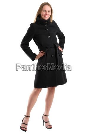 attractive, blonde, woman, in, black, winter - 20557557