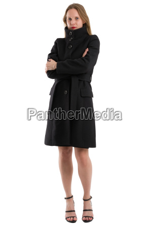 attractive, blonde, woman, in, black, winter - 20557563
