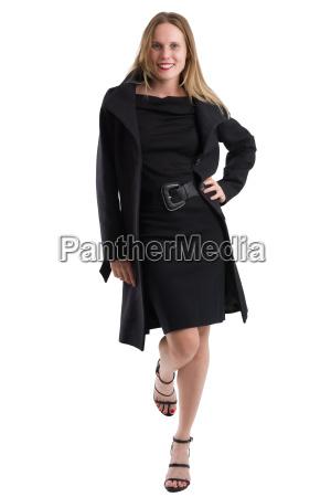 attractive, blonde, woman, in, black, winter - 20557577