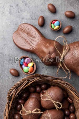 cibo dolce pasqua coniglio caramella carino