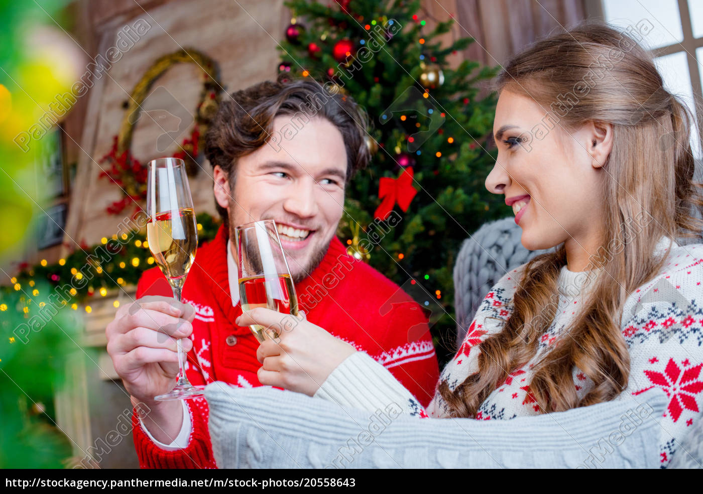 couple, toasting, with, champagne, glasses - 20558643
