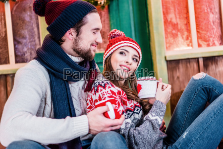 couple, with, cups, of, tea - 20558763