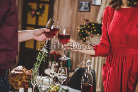 couple, toasting, wine - 20559387