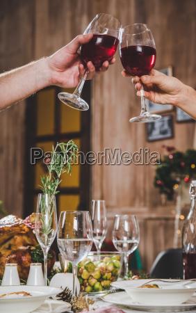 couple, toasting, wine - 20559421