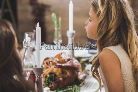 cute, girl, at, holiday, table - 20559195