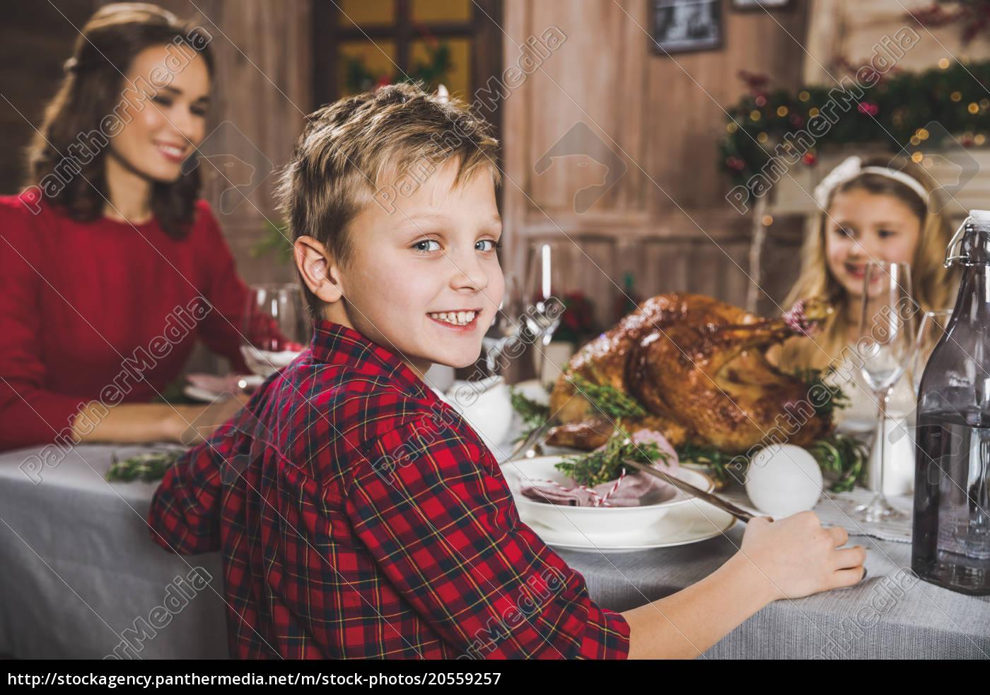 happy, family, at, holiday, table - 20559257