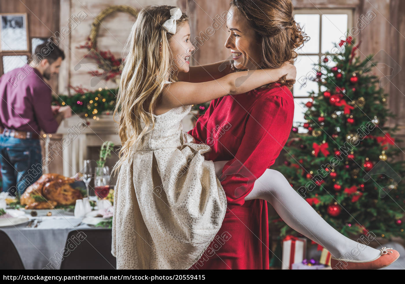 happy, mother, and, daughter, hugging - 20559415