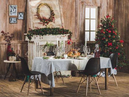 roasted, turkey, on, holiday, table - 20559227