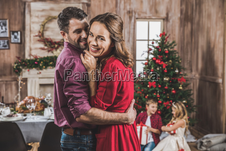 smiling, couple, hugging - 20559309