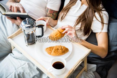 woman, has, breakfast, in, bed - 20559153
