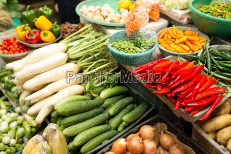 fresh and organic vegetables at farmers