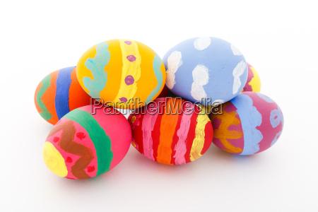 easter, eggs, on, white, background - 20560211