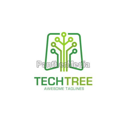 tech tree logo concept