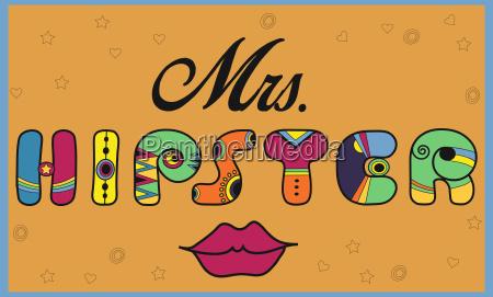 mrs hipster funny artistic font