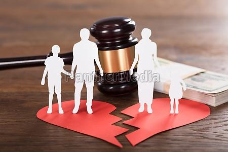 divorce, concept, on, wooden, desk - 20562843