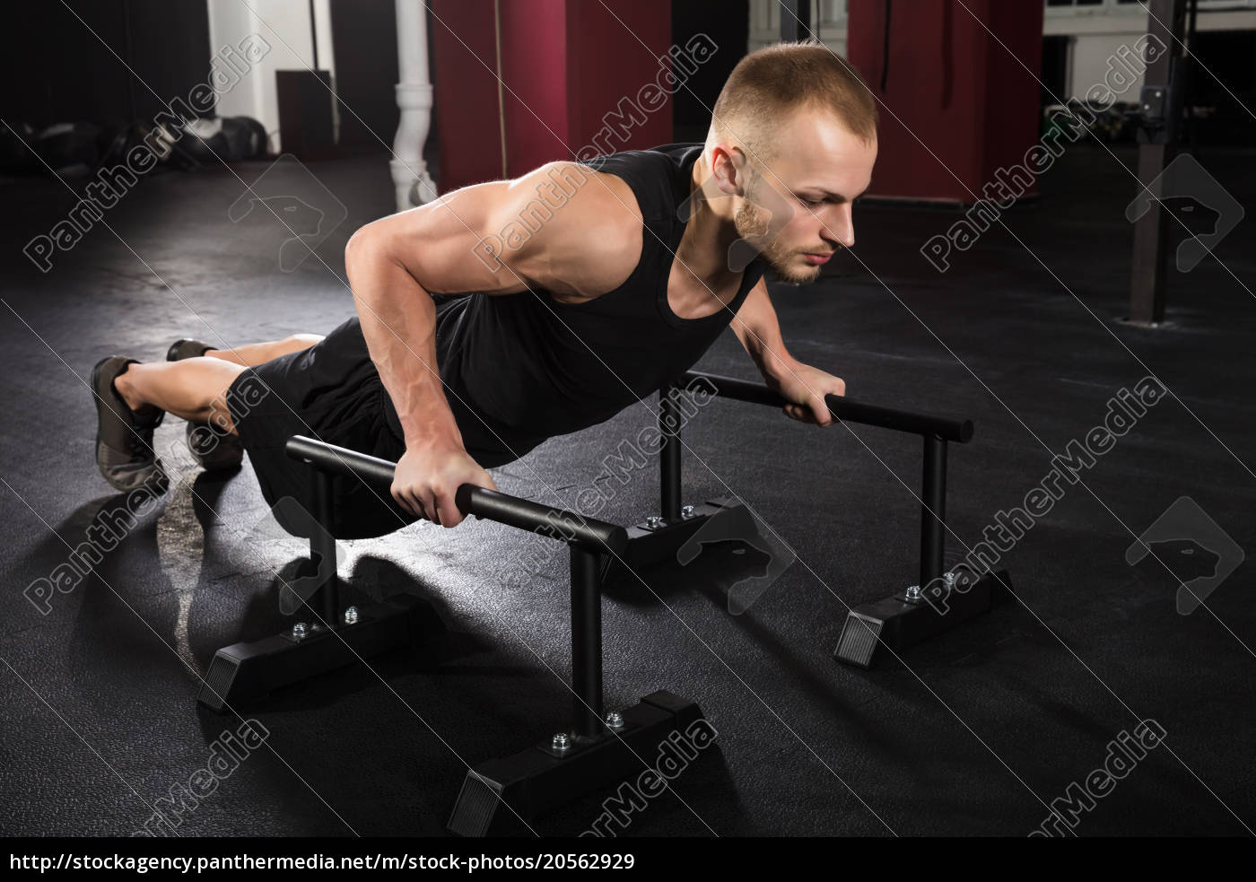 man, doing, push-up, exercise - 20562929