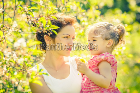 mother, and, daughter, in, sunny, park - 20562195