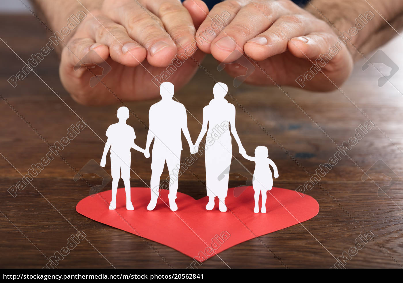 person, hand, protecting, family, paper, cut - 20562841
