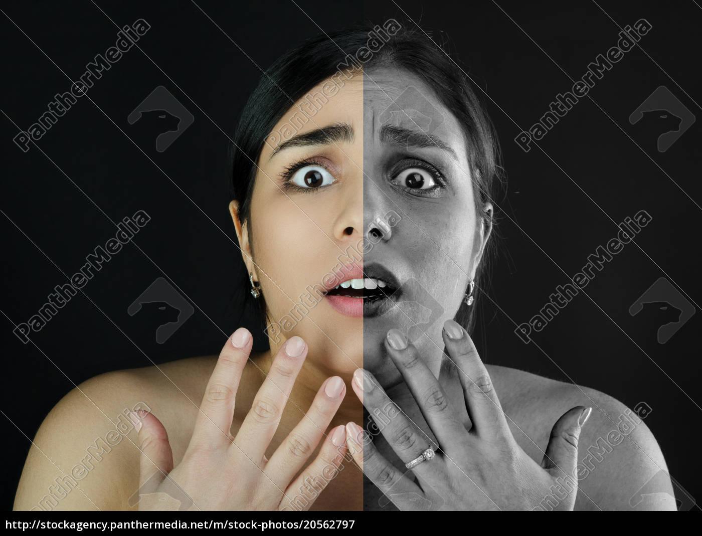 portrait, girl, , make-up, problem, skin - 20562797