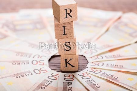risk, concept, on, wooden, desk - 20562863