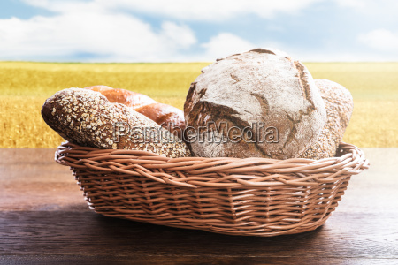 variety, of, bread, in, the, basket - 20562977