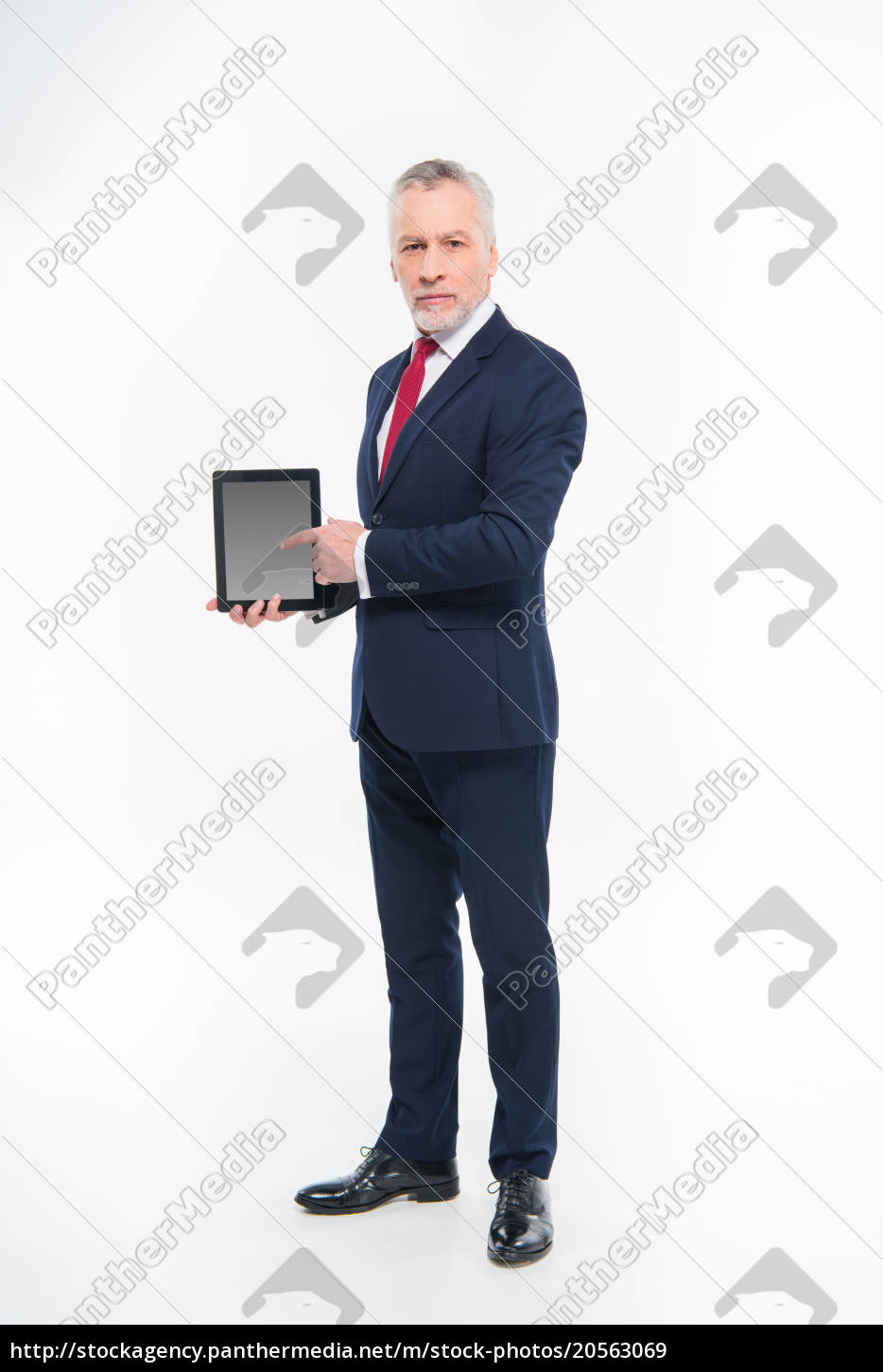 businessman, holding, digital, tablet - 20563069