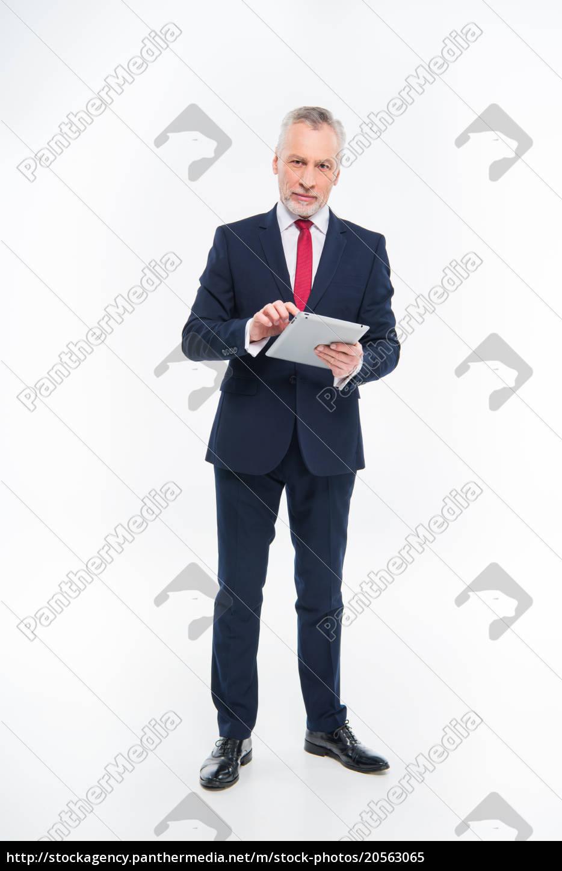 businessman, using, digital, tablet - 20563065