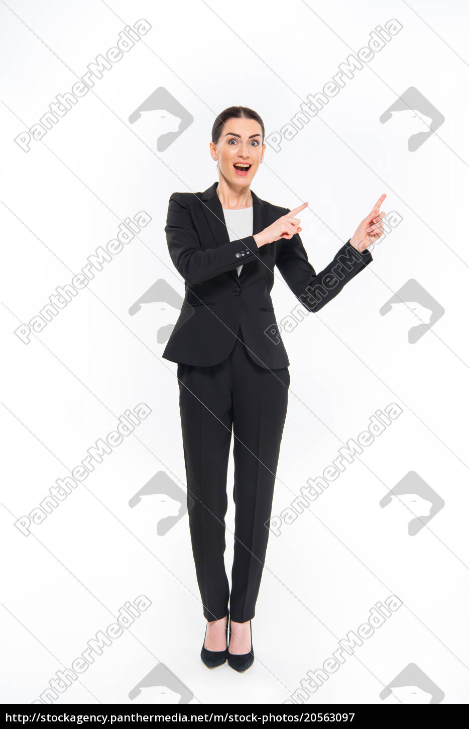 businesswoman, pointing, with, fingers - 20563097