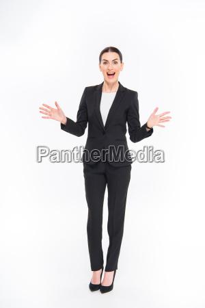 shocked, businesswoman, gesturing - 20563089