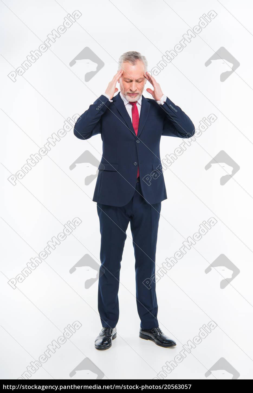stressed, mature, businessman - 20563057
