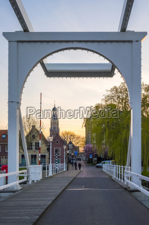 the wooden drawbridge and the tower