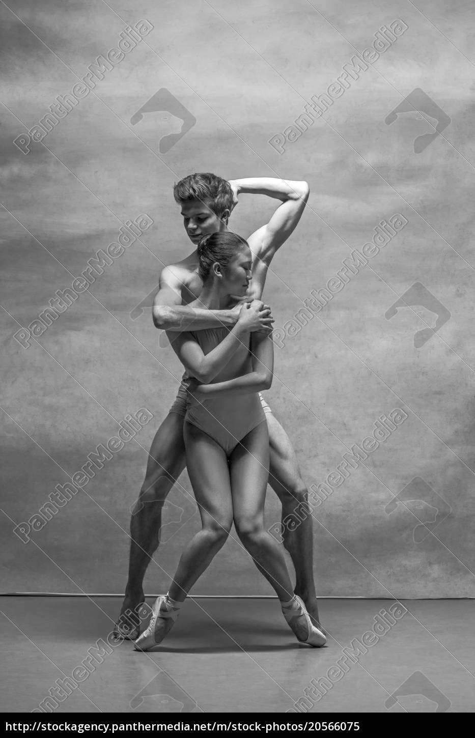 couple, of, ballet, dancers, posing, over - 20566075