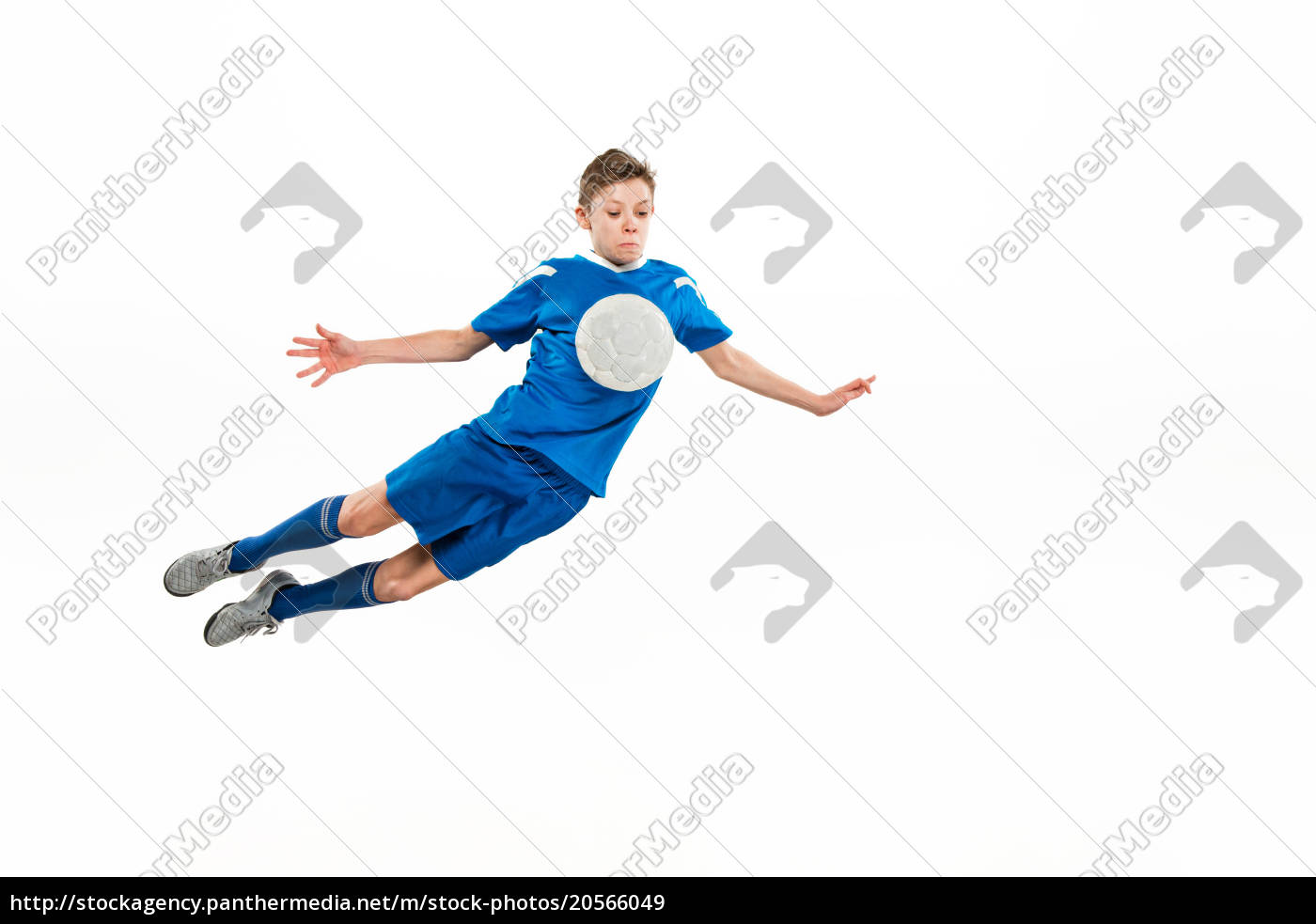 young, boy, with, soccer, ball, doing - 20566049