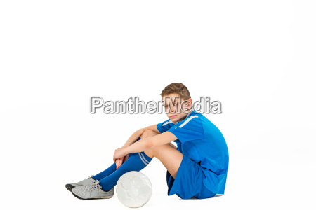 young, boy, with, soccer, ball - 20566055