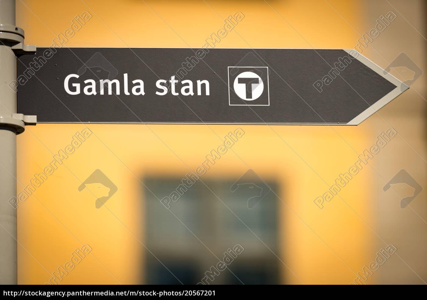 Gamla Stan Sign In Stockholm Sweden