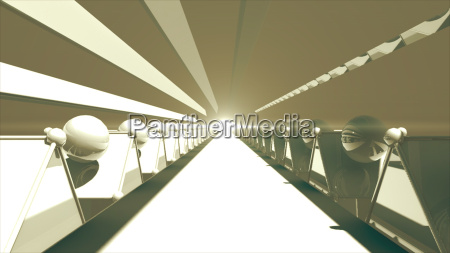 3d rendering futuristic road tunnel technology