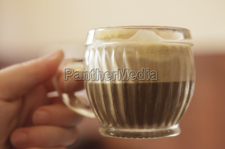 close up of vietnamese coffee with