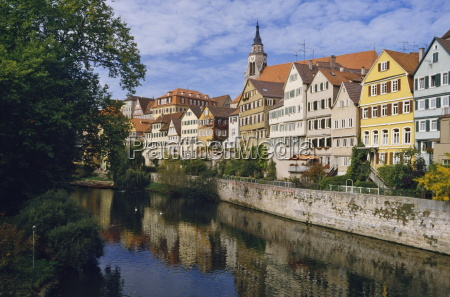 buildings overlooking the neckar river at