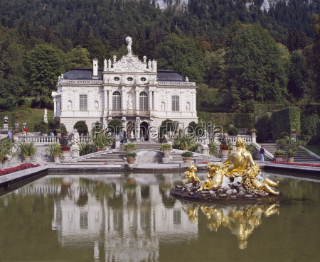 schloss linderhof in the graswang valley
