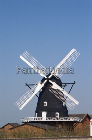 windmill at rodby lolland island denmark