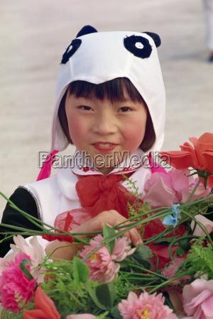 portrait of a girl panda dancer