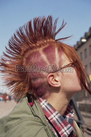 punk hairstyle helsinki finland scandinavia europe