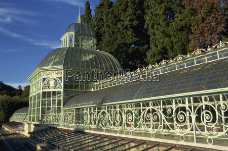 greenhouse in botanical gardens arenzano liguria