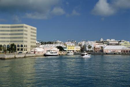 waterfront hamilton bermuda atlantic ocean central