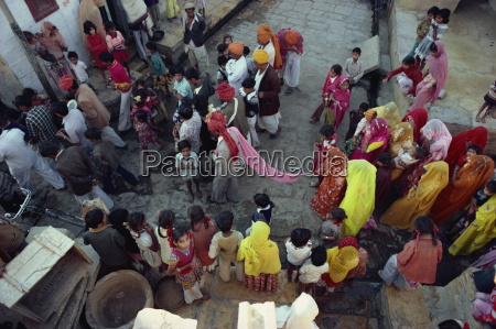 marriage procession jaisalmer rajasthan state india
